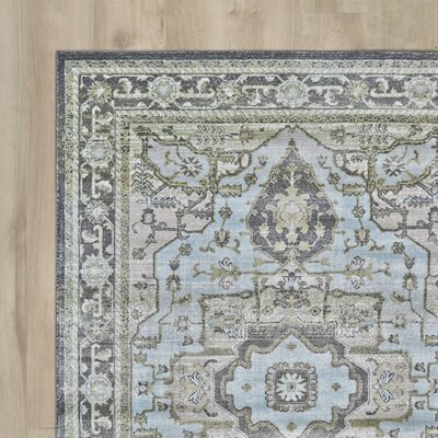 Reimer Taupe/Castle Area Rug Rug Size: Round 8