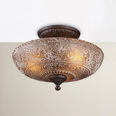 Paulette 3-Light Semi Flush Mount