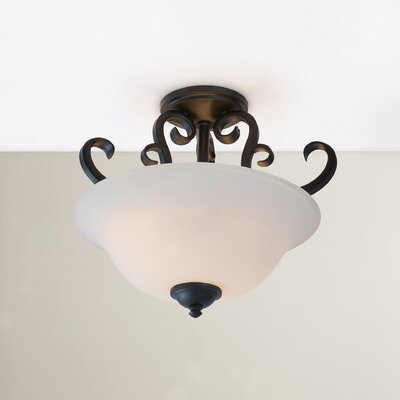 Auerbach 2-Light Semi-Flush Mount Finish: Oil Burnished Bronze