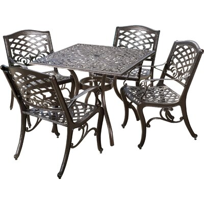 Burkhardt 5 Piece Dining Set