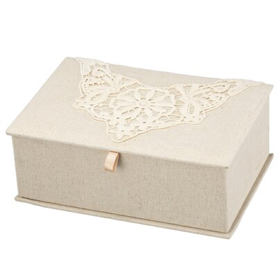 """3.5"""" H x 10"""" W x 7"""" D Vintage Lace Jewellery Box RSWH3041 29871240"""