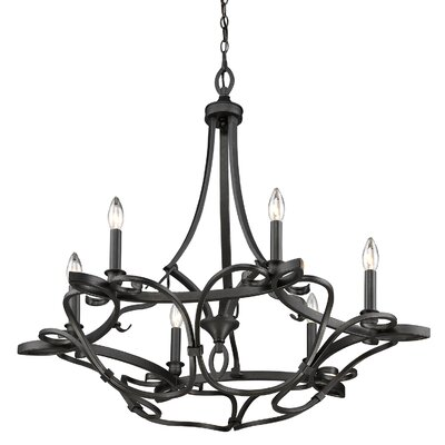 Crebilly 6-Light Candle-Style Chandelier