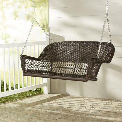 Doney Porch Swing Finish: Espresso, Cushion Color: No Cushion
