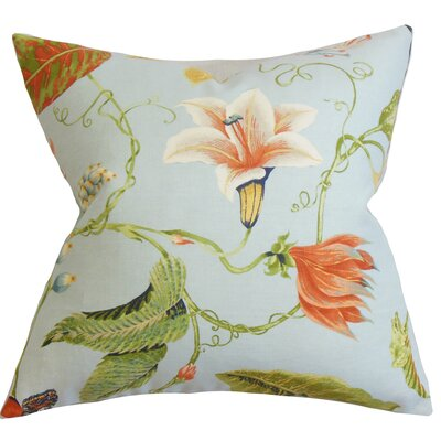 Keneth Floral Throw Pillow Color: Light Blue, Size: 20 x 20