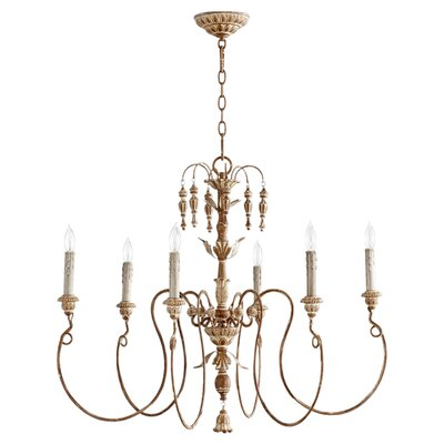 Ardclinis 6-Light Candle-Style Chandelier Finish: French Umber