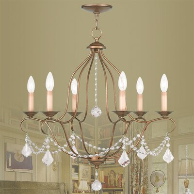 Bayfront 6-Light Crystal Chandelier Color: Venetian Golden Bronze