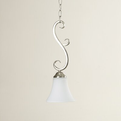 Auerbach 1-Light Mini Pendant Finish: Satin Nickel