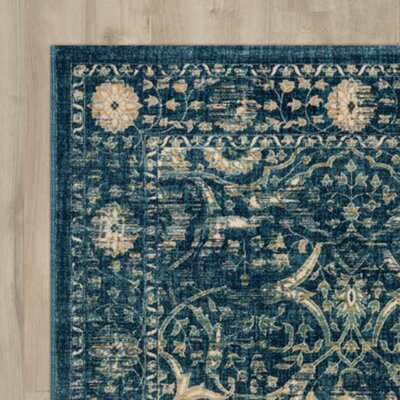Sagebrush Navy/Beige Area Rug