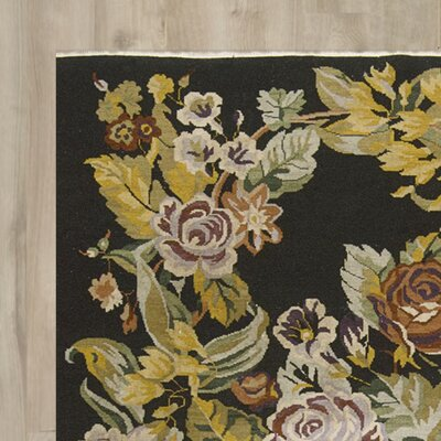 Barret Hand-Woven Black Area Rug