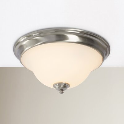 Auerbach 3-Light Flush Mount Color: Satin Nickel