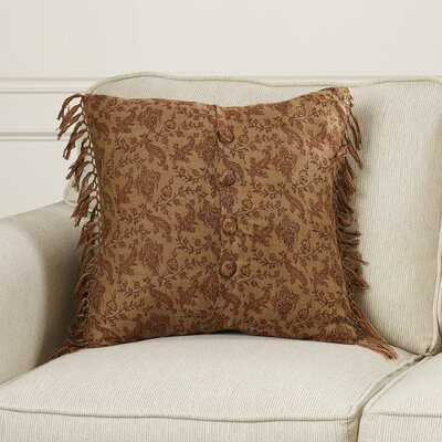 Dransfield Vine Floral Wool Throw Pillow