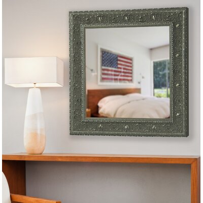 Clayton Opulent Silver Square Wall Mirror