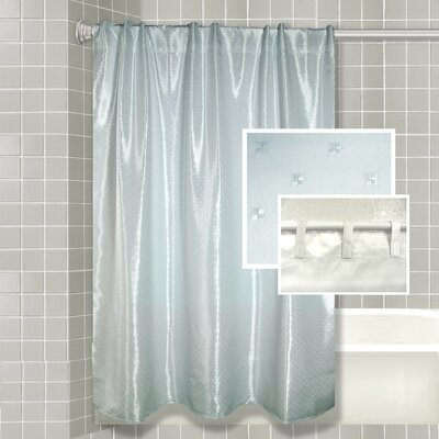 Lavette All-In-One Shower Curtain Set Color: Blue