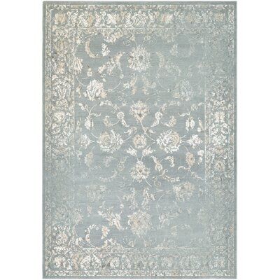 Charley Gray/Cream Area Rug Rug Size: 3'7