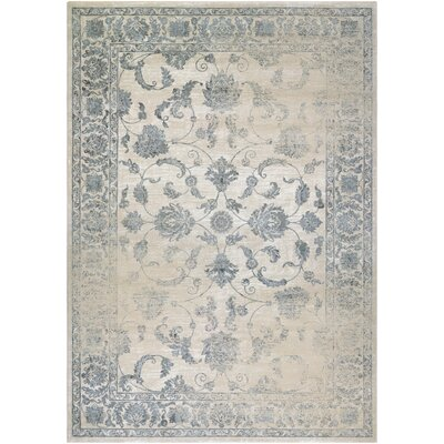 Charley Beige/Gray Area Rug Rug Size: 3'7