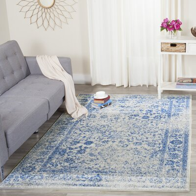 Sebring Gray/Blue Area Rug Rug Size: Rectangle 4 x 6