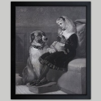 Her only Playmates 1881 Framed Painting Print