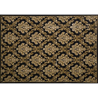 South Branch Black / Ivory Area Rug Rug Size: 53 x 77