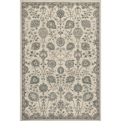 Appleridge Oatmeal/Teal Area Rug Rug Size: 53 x 77