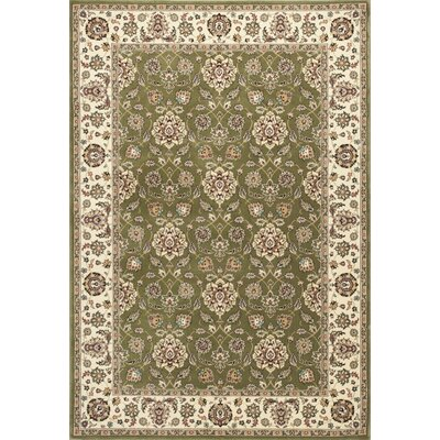 Arietta Green/Ivory Area Rug Rug Size: Rectangle 53 x 77
