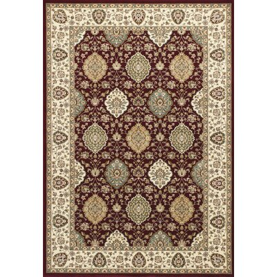 Arietta Ruby/Ivory Area Rug Rug Size: Rectangle 53 x 77
