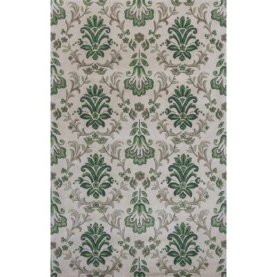 Arkwright Hand-Tufted Ivory/Green Area Rug Rug Size: Rectangle 93 x 133