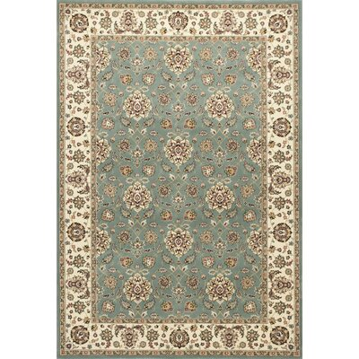 Arietta Blue/Ivory Area Rug Rug Size: Rectangle 22 x 33