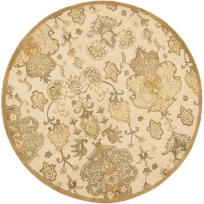 Seana Hand-Tufted Beige Area Rug Rug Size: Rectangle 5 x 8