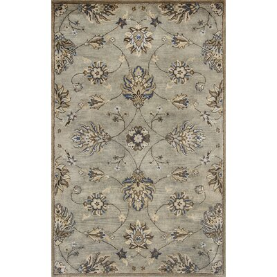 Seana Hand-Tufted Gray Area Rug Rug Size: Rectangle 5 x 8