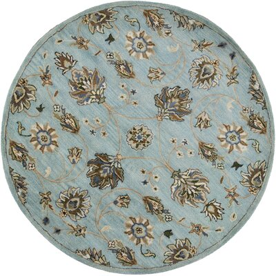 Breckler Hand-Tufted Blue Area Rug Rug Size: 33 x 53