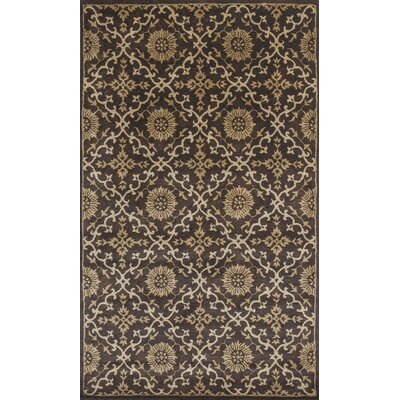 Breckler Hand-Tufted Mocha Area Rug Rug Size: Rectangle 33 x 53