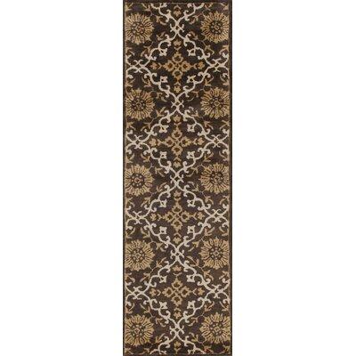 Breckler Hand-Tufted Mocha Area Rug Rug Size: Runner 23 x 76