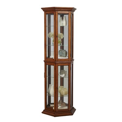 Banner Lighted Curio Cabinet