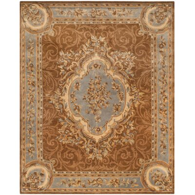 Sandusky Hand-Tufted Blue / Brown Area Rug Rug Size: 96 x 136