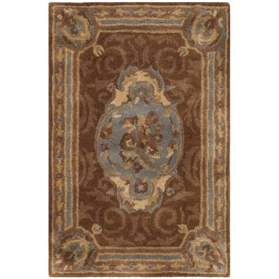 Sandusky Hand-Tufted Blue / Brown Area Rug Rug Size: Rectangle 2 x 3