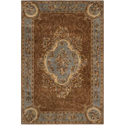 Sandusky Hand-Tufted Blue / Brown Area Rug Rug Size: 5 x 8