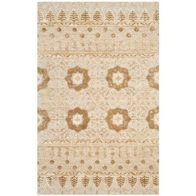 Troupsburg Hand-Tufted Ivory Area Rug Rug Size: 5 x 8