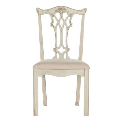 Berger Side Chair Finish: Taupe/Rustic Gray