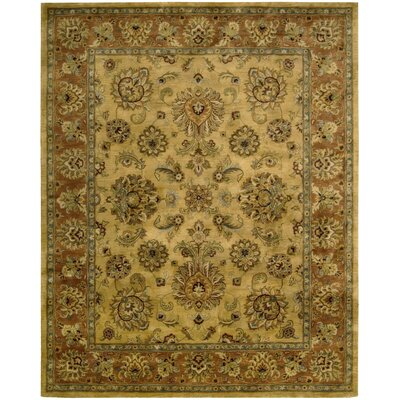 Lupton Hand-Tufted Gold Area Rug Rug Size: Rectangle 79 x 99