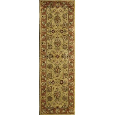 Lupton Hand-Tufted Gold Area Rug Rug Size: Runner 24 x 8