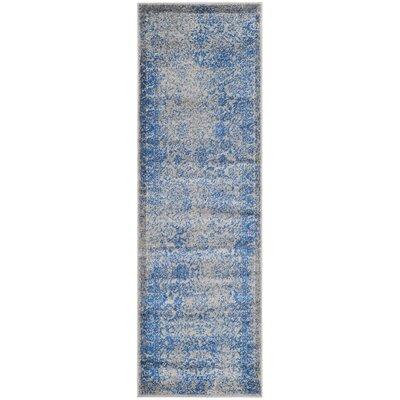 Sebring Gray/Blue Area Rug Rug Size: Runner 26 x 18