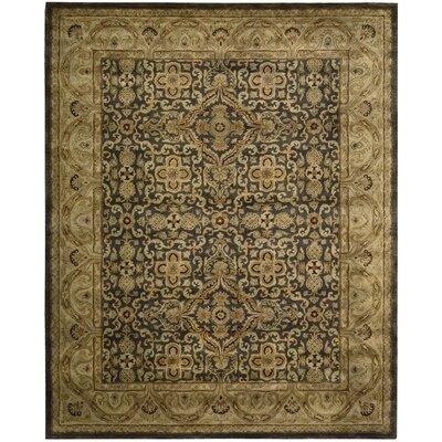 Lupton Hand-Tufted Aubergine Area Rug Rug Size: 39 x 59