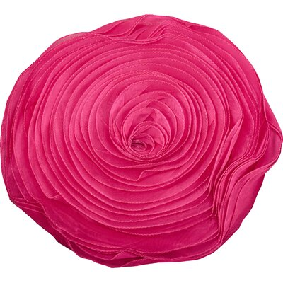 Floral Throw Pillow Color: Fuchsia