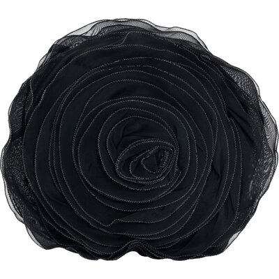 Floral Throw Pillow Color: Black