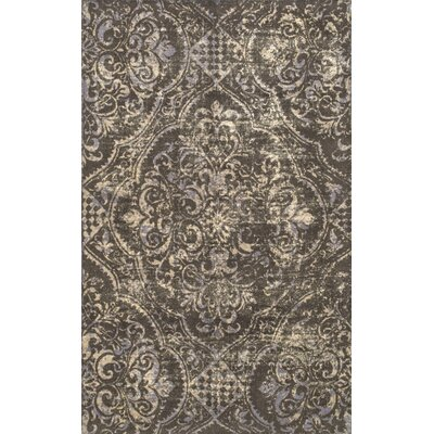 Adamsburg Hand-Tufted Brown Area Rug Rug Size: Rectangle 76 x 96