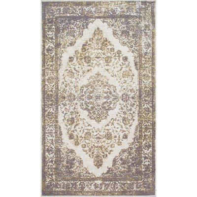 Rona Silver Area Rug Rug Size: Rectangle 4 x 6