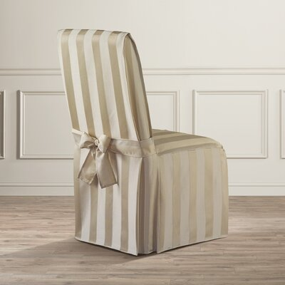 Polyester Parson Chair Slipcover Upholstery: Natural