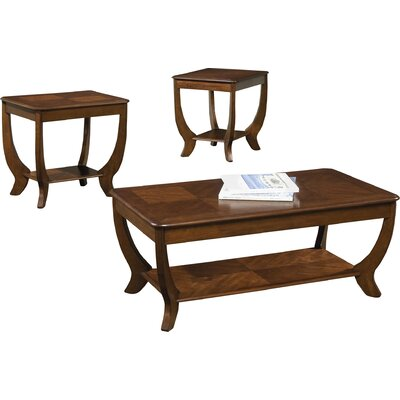 Pettigrew 3 Piece Coffee Table Set