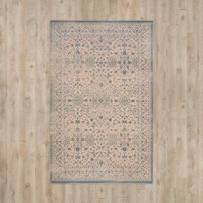 Roma Cream / Sage Area Rug Rug Size: Rectangle 51 x 76