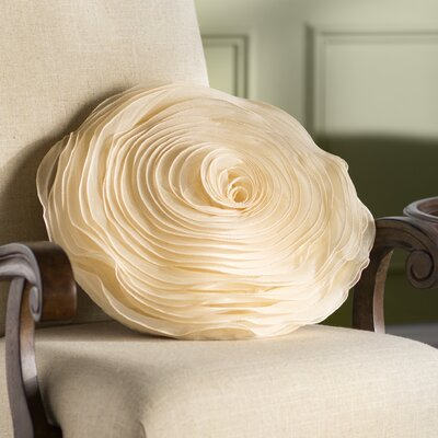 Floral Throw Pillow Color: Champagne